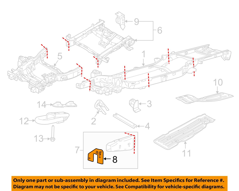 ford oem 15 16 f 150 frame mount bracket right fl3z17n775h. Black Bedroom Furniture Sets. Home Design Ideas
