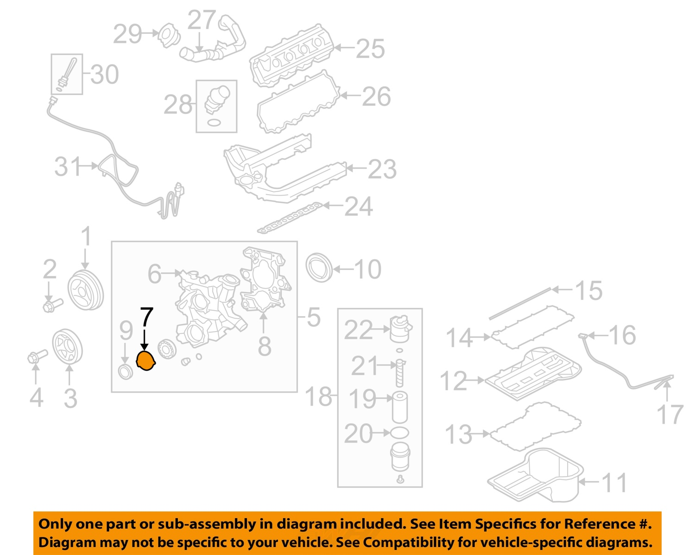FORD OEM 08-10 E-350 Super Duty 6.0L-V8 Engine-Timing Cover Gasket 3C3Z6619FA