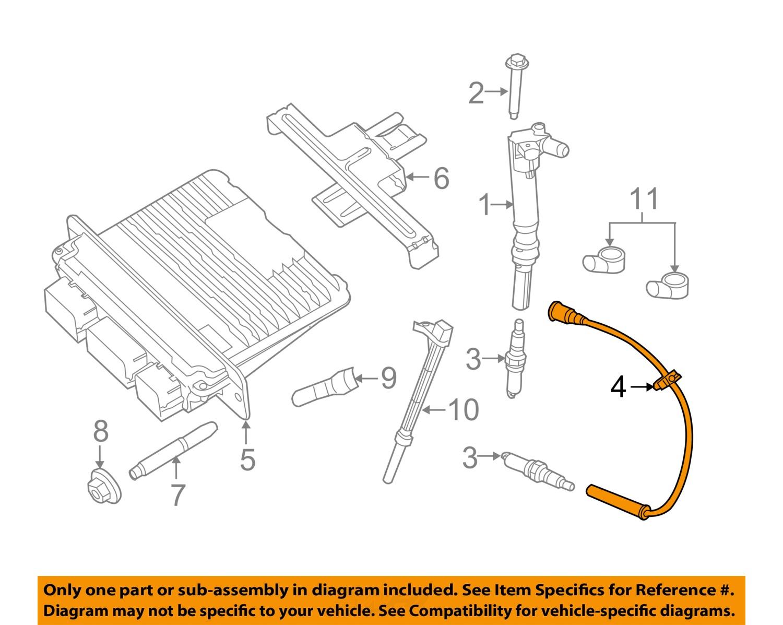 FORD OEM 10-12 F-150 6.2L-V8-Ignition Spark Plug Wire Set AL3Z12286A