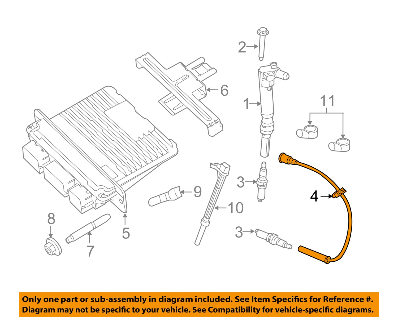 Ford Motorcraft Wr6146 Oem Super Duty 62l Spark Plug Wire Left Cc3z 350 Wiring Diagram 12 16 F V8 Cc3z12286d
