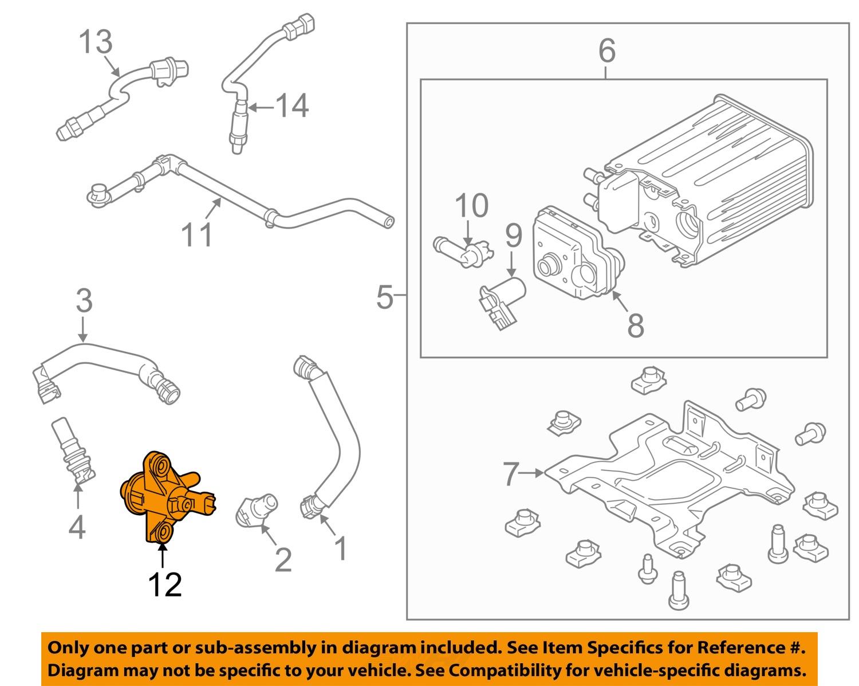 ford oem vapor canister purge valve au5z9c915b ebay. Black Bedroom Furniture Sets. Home Design Ideas