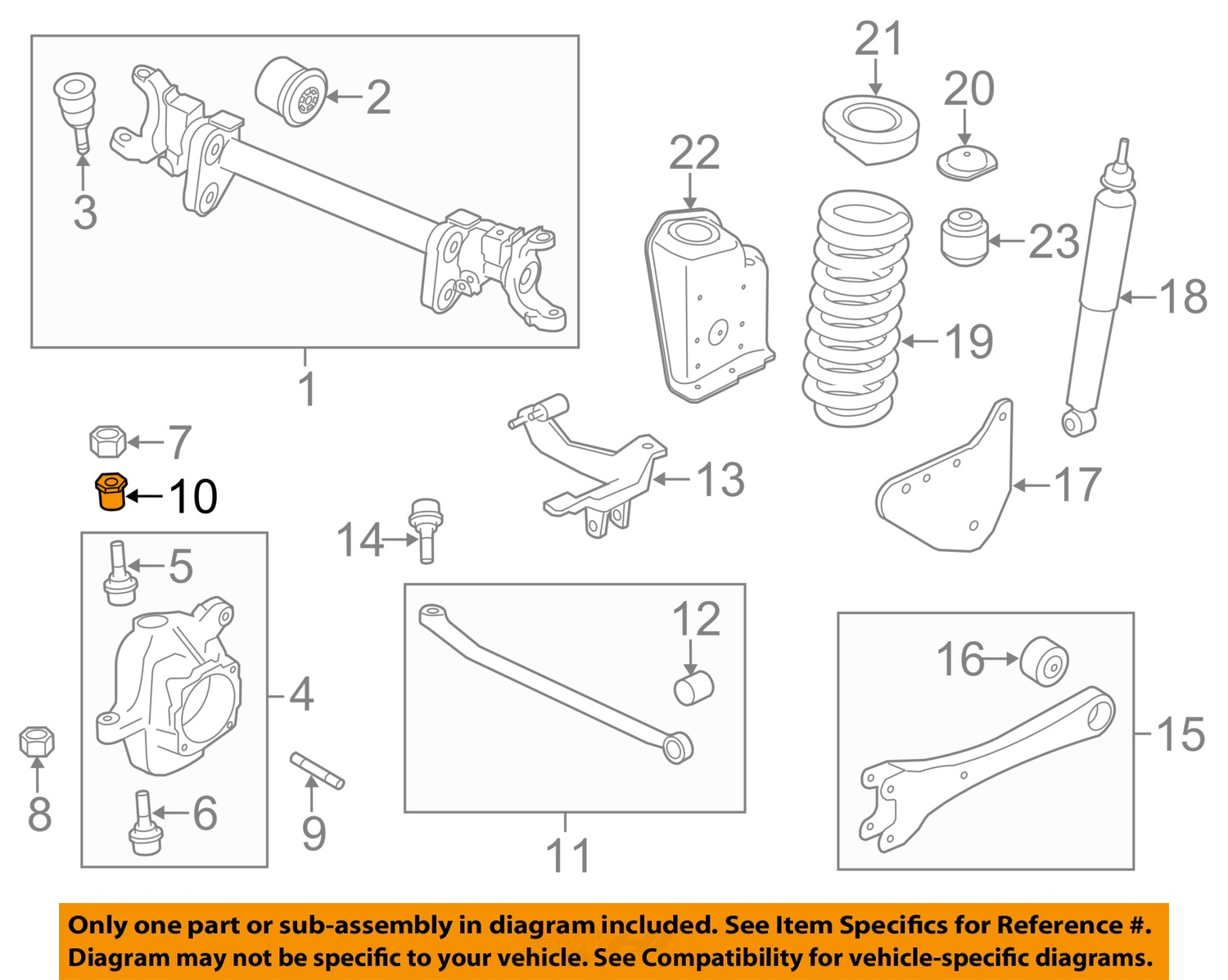 ford oem 05 16 f 450 super duty front suspension camber kit