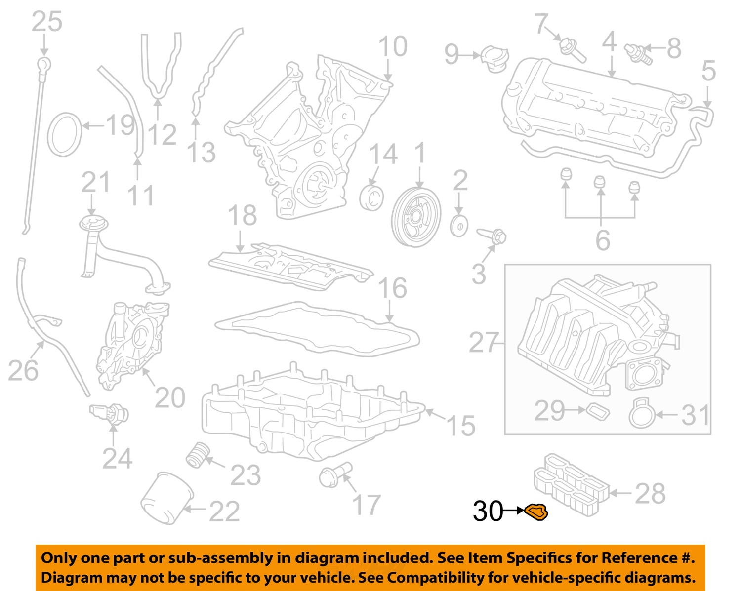 Sell Ford Oem Engine Intake Manifold Gasket 3f1z9439aa Motorcycle In With Diagram