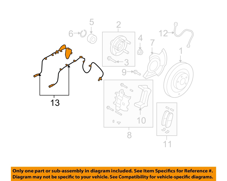 FORD OEM ABS Anti-lock Brakes-Front Speed Sensor DT4Z2C205AB