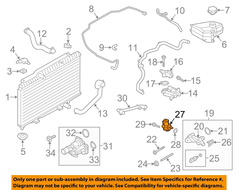 Ford    OEM 20132015 Various Models 16LL4 Radiator Valve