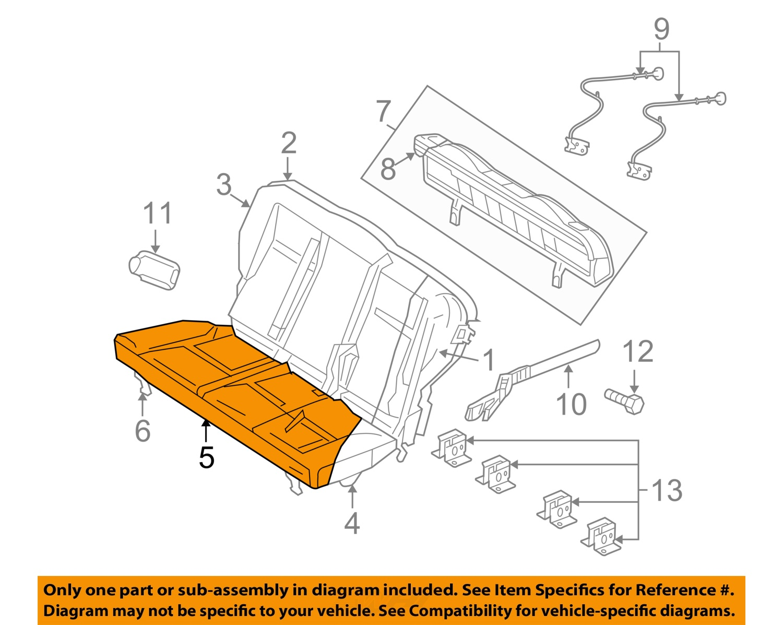 Pt Cruiser Seat Diagram Reinvent Your Wiring Fj Fuse Box Chrysler Oem 06 07 Rear Cushion Cover Left Rh Ebay Com 2006 Repair Manual Ac