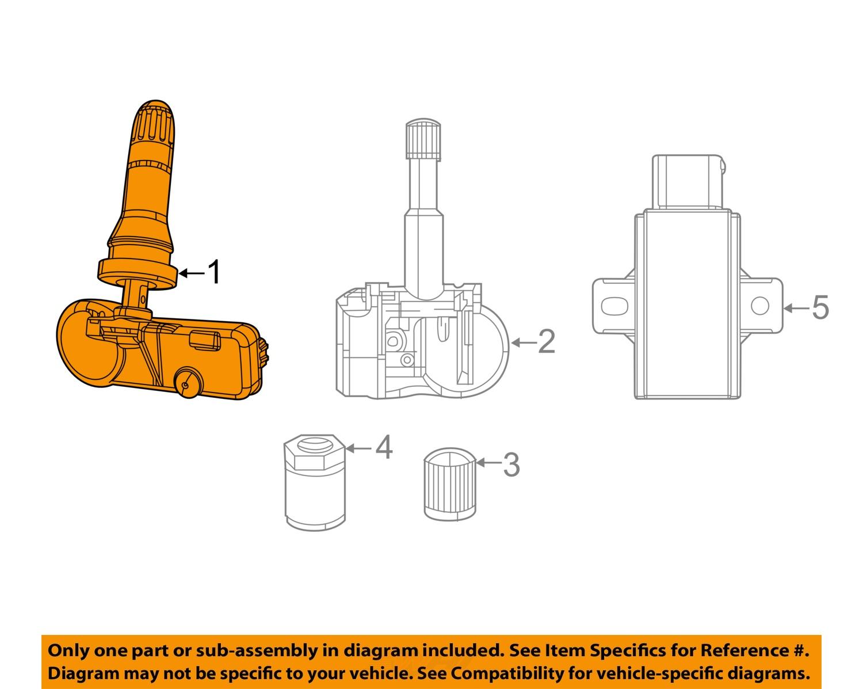 tire chain diagram chrysler oem-tpms tire pressure monitor sensor 68313387ab ...