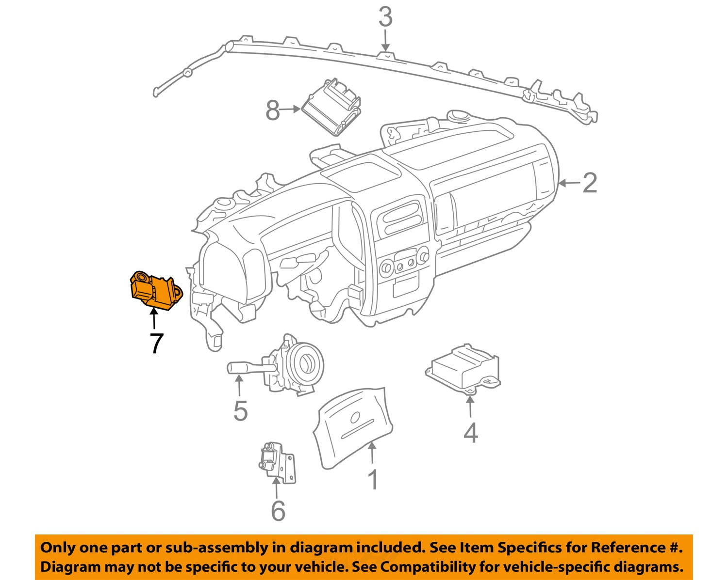 Jeep Chrysler Oem Supplemental Restraint System Diagnostic Module 1950 Willys Overland Wiring Diagram 7 On Only Genuine Oe Factory Original Item